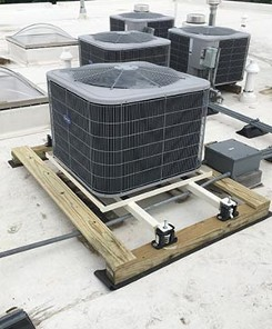 Custom Rooftop Condenser Stands